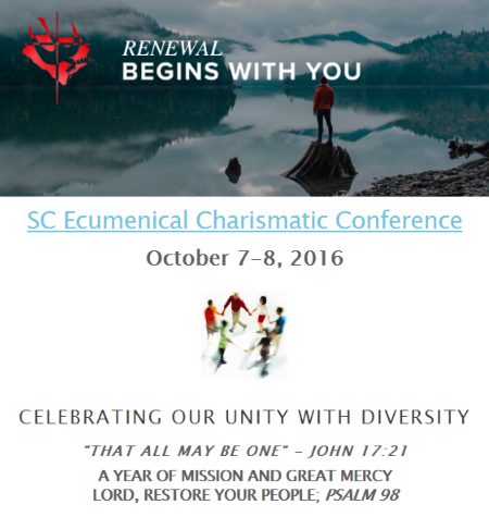 """SC Ecumenical Charismatic """"Healing"""" Conference 2016 -N. Myrtle Beach, SC @ Our Lady Star of the Sea Catholic Church   North Myrtle Beach   South Carolina   United States"""