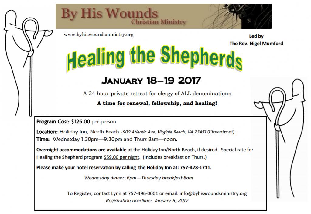 Healing the Shepherds - 24 hr Clergy Retreat; Virginia Beach, VA @ Holiday Inn Suites, North Beach, Virginia Beach, VA | Virginia Beach | Virginia | United States